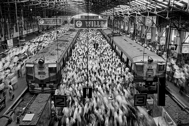 Church Gate Station, Bombay (Mumbai). India. 1995. © Sebastião Salgado