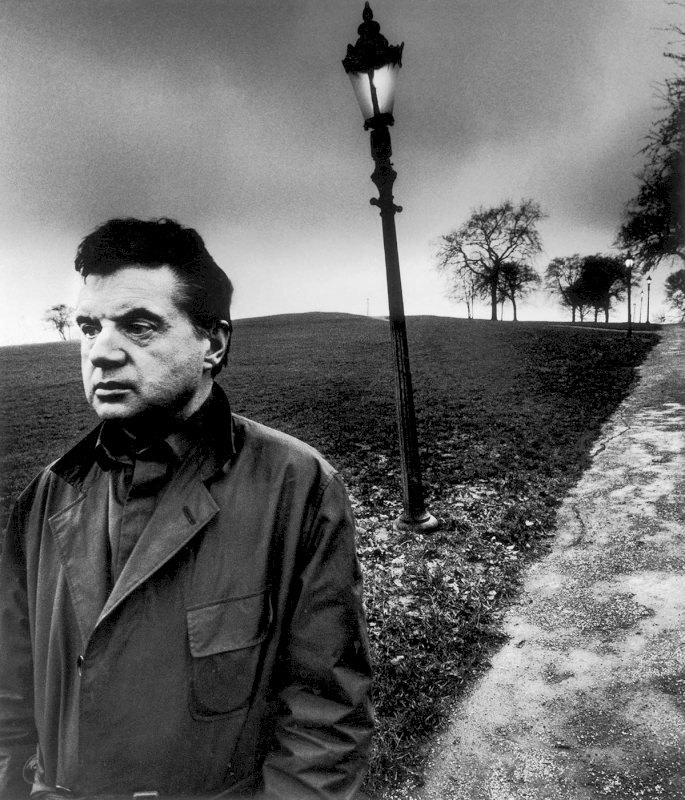 Francis Bacon on Primrose Hill, London, 1963 - Private collection, Courtesy Bill Brandt Archive and Edwynn Houk Gallery © Bill Brandt / Bill Brandt Archive Ltd.